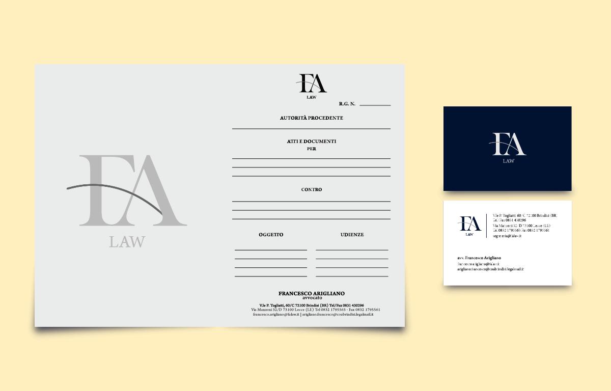 Brand Identity Francesco Arigliano Avvocato
